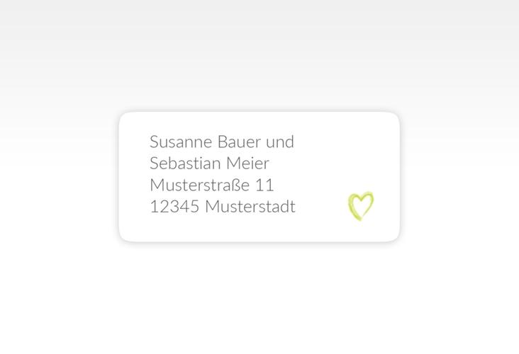 """Absenderetikett Hochzeit """"Liebe"""" 45,7 x 21,2 mm gruen"""
