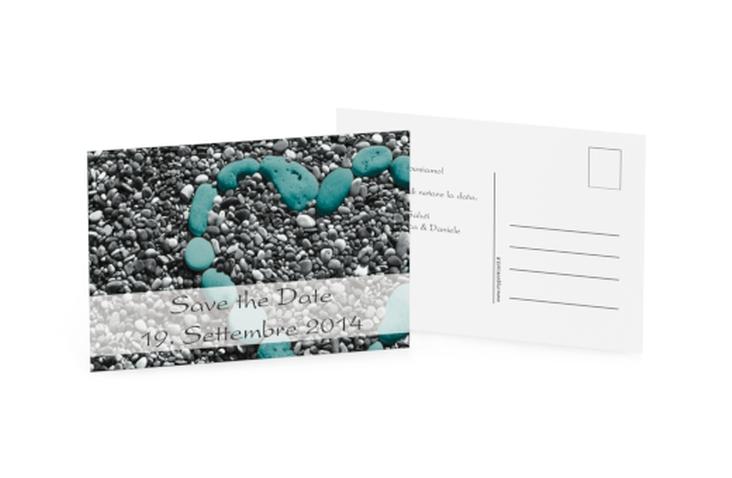 Biglietti Save the Date collezione Bilbao A6 Postkarte azzuro
