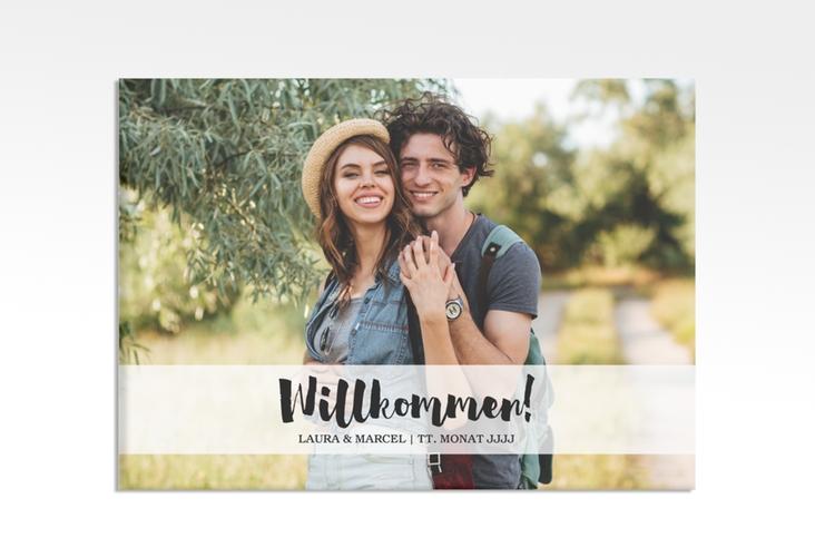 """Willkommensschild Hochzeit """"Mirage"""" 70 x 50 cm Leinwand"""