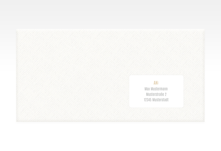 """Empfängeretikett Hochzeit """"Memory"""" 63,5 x 38,1 mm beige"""