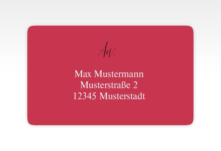 """Empfängeretikett Hochzeit """"Classic"""" 63,5 x 38,1 mm rot"""