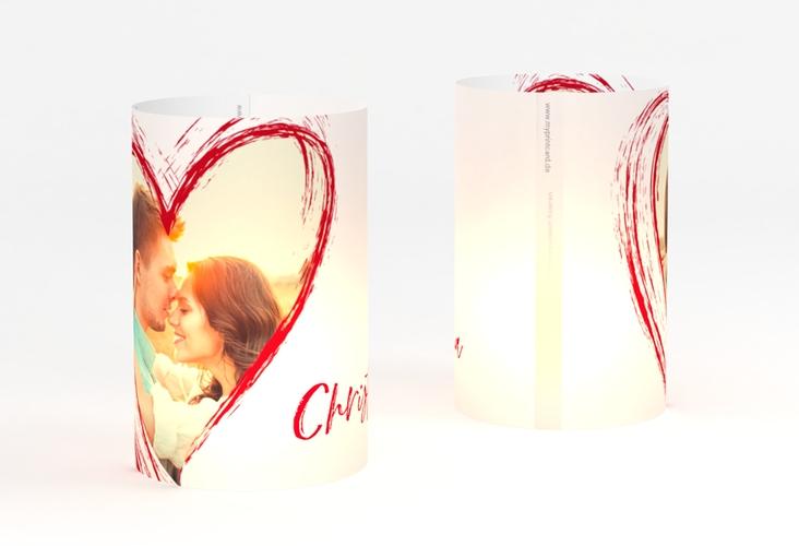 """Windlicht Hochzeit """"Liebe"""" Windlicht rot"""