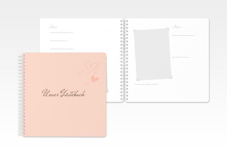 "Gästebuch Hochzeit ""Purity"" Ringbindung"