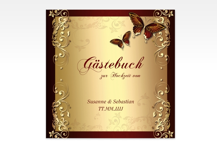 "Gästebuch Creation ""Toulouse"" 20 x 20 cm, Hardcover rot"