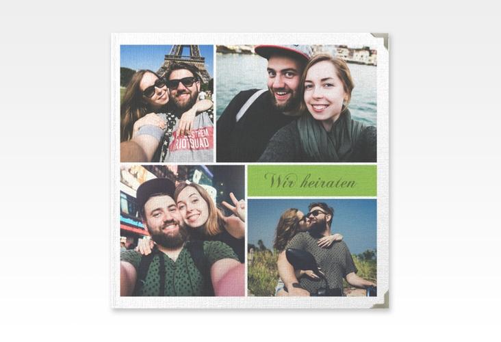 """Gästebuch Selection Hochzeit """"Collage"""" Leinen-Hardcover gruen"""