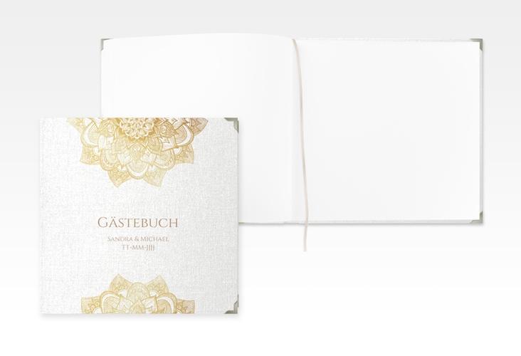 "Gästebuch Selection Hochzeit ""Delight"" Leinen-Hardcover gold"