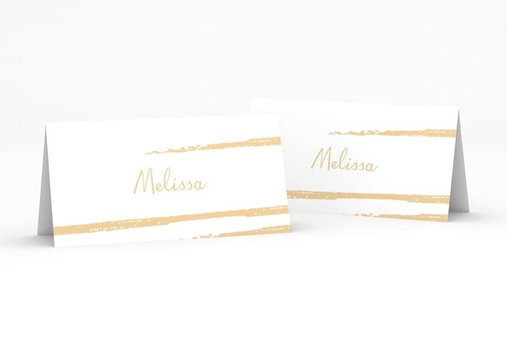 """Tischkarte Hochzeit """"Mare"""" Tischkarten beige"""