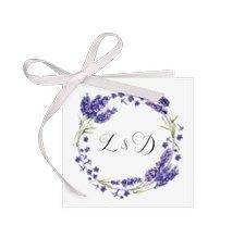 """Geschenkanhänger Hochzeit """"Lavendel"""""""