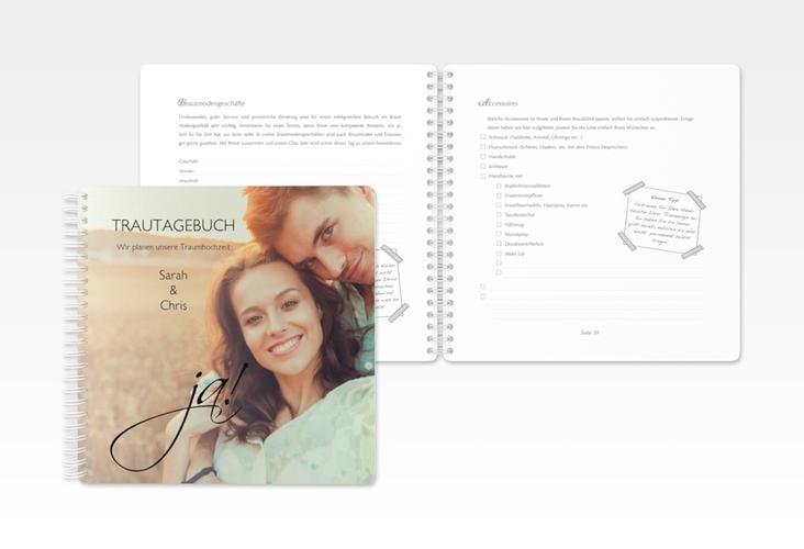 """Trautagebuch Hochzeit """"Clarity"""" Trautagebuch Hochzeit"""