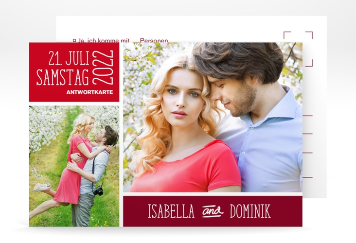 """Antwortkarte Hochzeit """"Gallery"""" A6 Postkarte"""