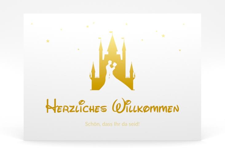 "Willkommensschild Poster ""Castle"" 70 x 50 cm Poster gold"