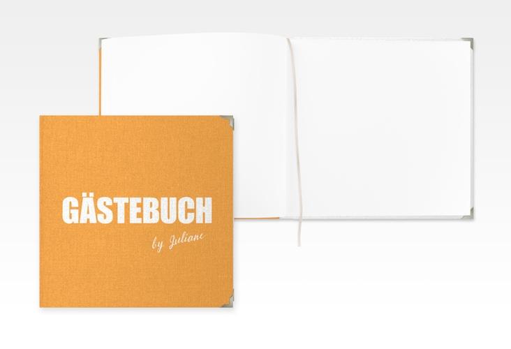 "Gästebuch Selection Geburtstag ""Zig"" Leinen-Hardcover orange"