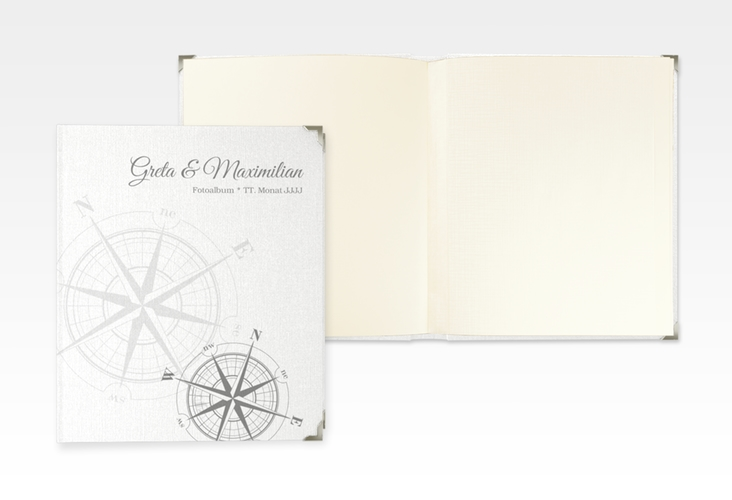 "Hochzeitsalbum ""Windrose"" 21 x 25 cm grau"
