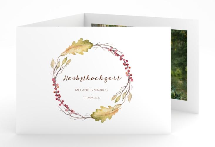 """Hochzeitseinladung """"Herbsthochzeit"""" A6 doppelt geklappt"""