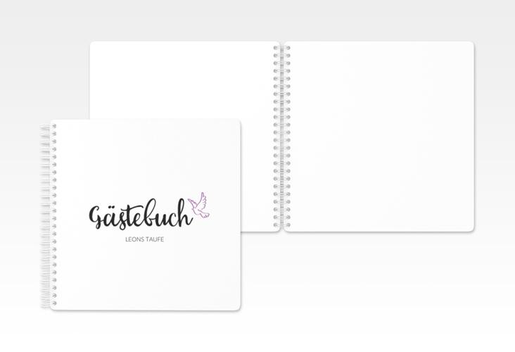 "Gästebuch Taufe ""Belief"""" Ringbindung lila"