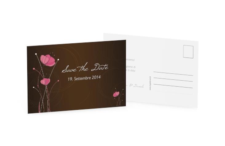 Biglietti Save the Date collezione Madrid A6 Postkarte marrone