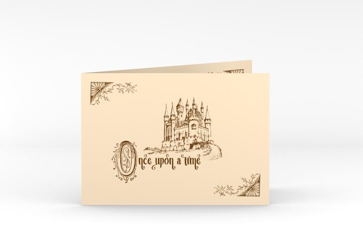 """Dankeskarte Hochzeit """"Storybook"""" A6 Klappkarte Quer"""
