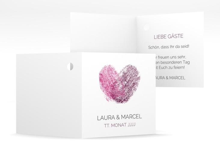"""Geschenkanhänger Hochzeit """"Fingerprint"""" Geschenkanhänger 10er Set"""