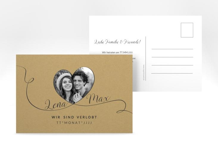 """Verlobungskarte Hochzeit """"Herzensbund"""" A6 Postkarte"""