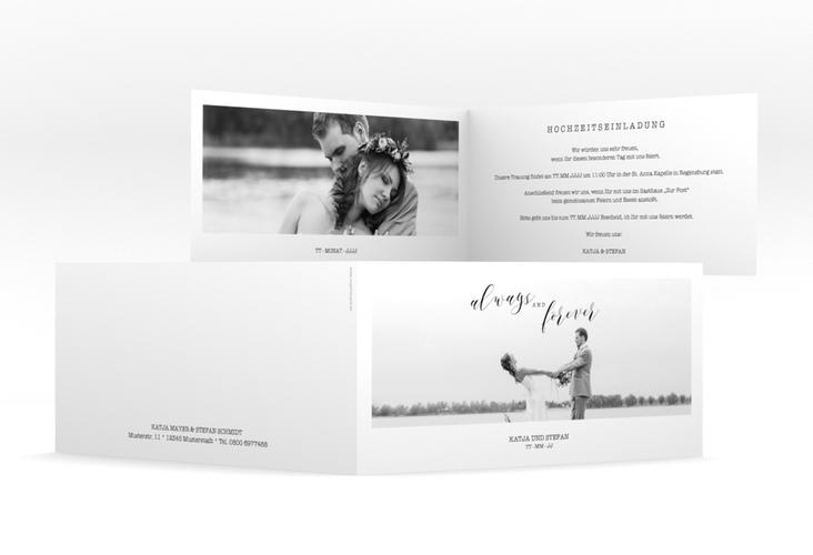 """Hochzeitseinladung """"Photoframe"""" DIN lang Klappkarte"""