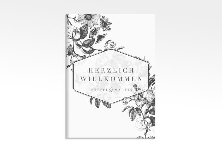 """Willkommensschild Leinwand  """"Magnificent"""" 50 x 70 cm Leinwand schwarz"""