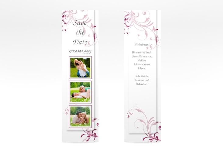 """Save the Date-Lesezeichen """"Palma"""" Lesezeichen pink"""