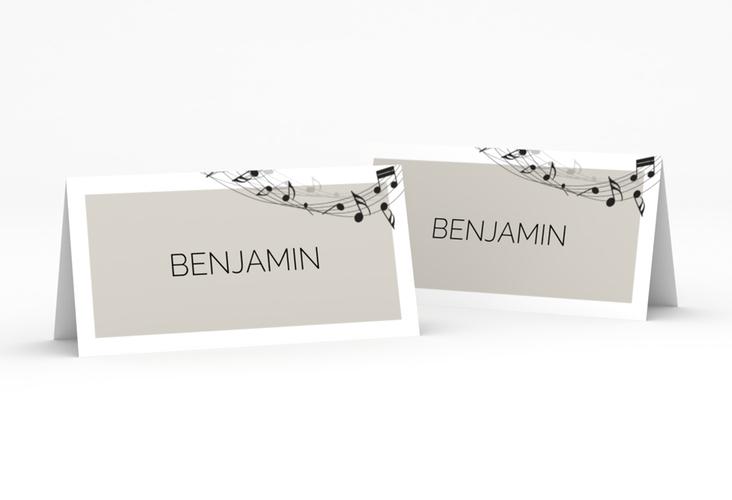 """Tischkarte Hochzeit """"Melody"""" Tischkarten grau"""