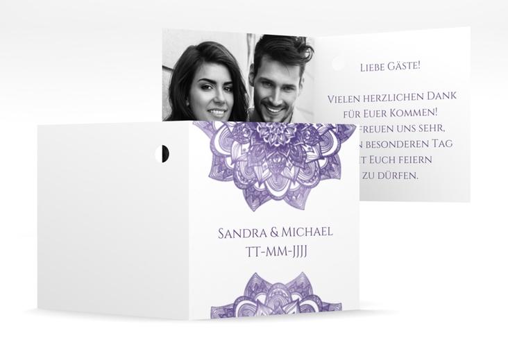 "Geschenkanhänger Hochzeit ""Delight"" Geschenkanhänger 10er Set lila"