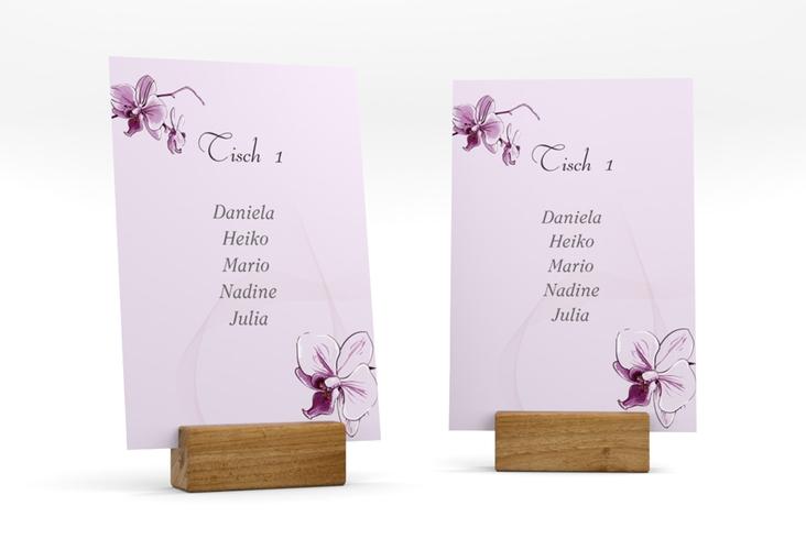 """Tischaufsteller Hochzeit """"Modena"""" Tischaufsteller lila"""