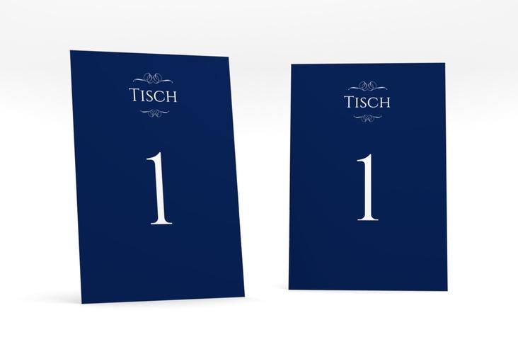 """Tischnummer Hochzeit """"Elegancy"""" Tischaufsteller blau"""