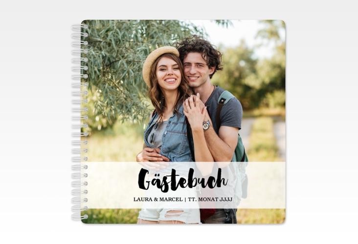 """Gästebuch Hochzeit """"Mirage"""" Ringbindung"""