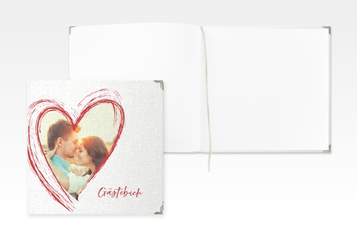 "Gästebuch Selection Hochzeit ""Liebe"" Leinen-Hardcover rot"