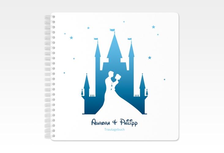 """Trautagebuch Hochzeit  """"Castle"""" Trautagebuch Hochzeit blau"""