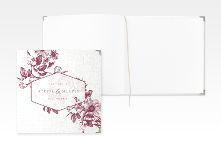 """Gästebuch Selection Hochzeit """"Magnificent"""" Hardcover rot"""
