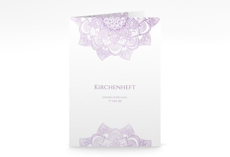 """Kirchenheft Hochzeit """"Delight"""" DIN A5 geklappt flieder"""