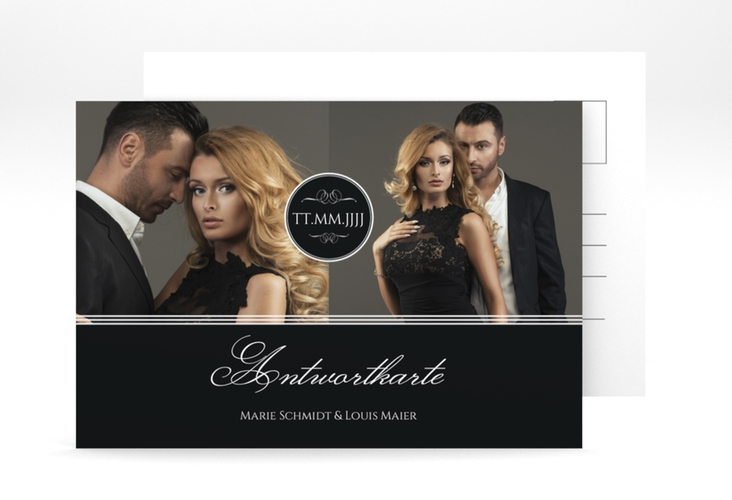 "Antwortkarte Hochzeit ""Elegancy"" A6 Postkarte"