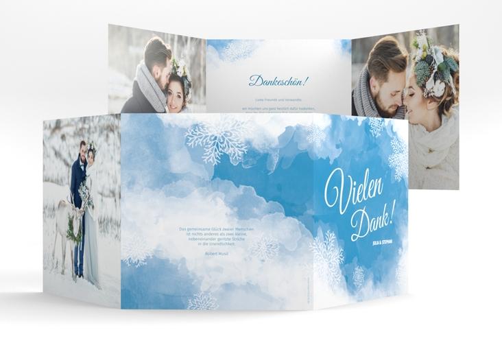 "Dankeskarte Hochzeit ""Frozen"" Quadr. Karte doppelt"