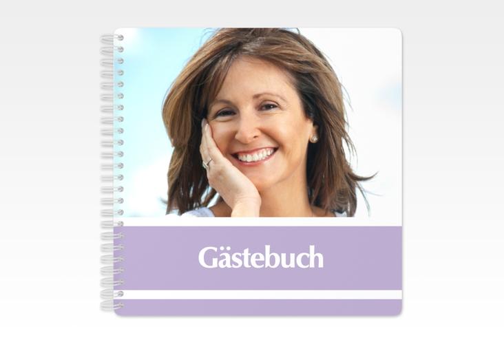 """Gästebuch Geburtstag """"Gerd/Gerda"""" Ringbindung lila"""