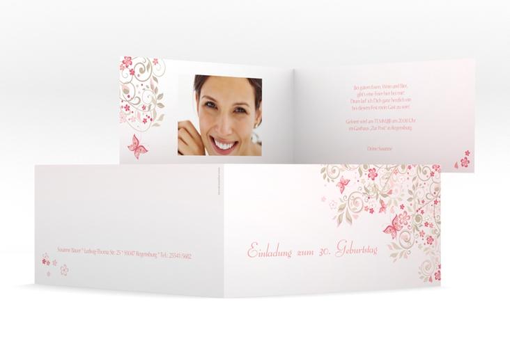"Einladungskarte ""Marianne"" DIN lang Klappkarte"