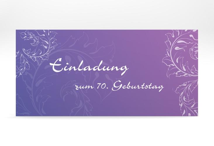 "Einladungskarte ""Peter/Petra"" DIN lang lila"