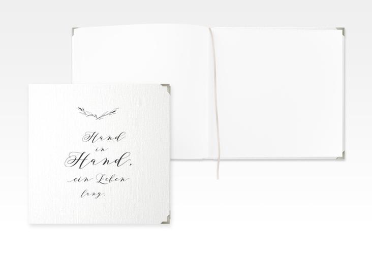 """Gästebuch Selection Hochzeit """"Divine"""" Leinen-Hardcover weiss"""