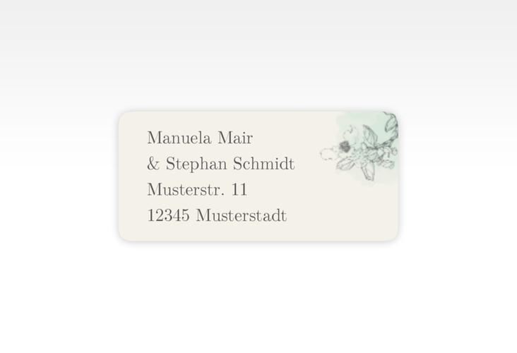 """Absenderetikett Hochzeit """"Artlover"""" 45,7 x 21,2 mm mint"""