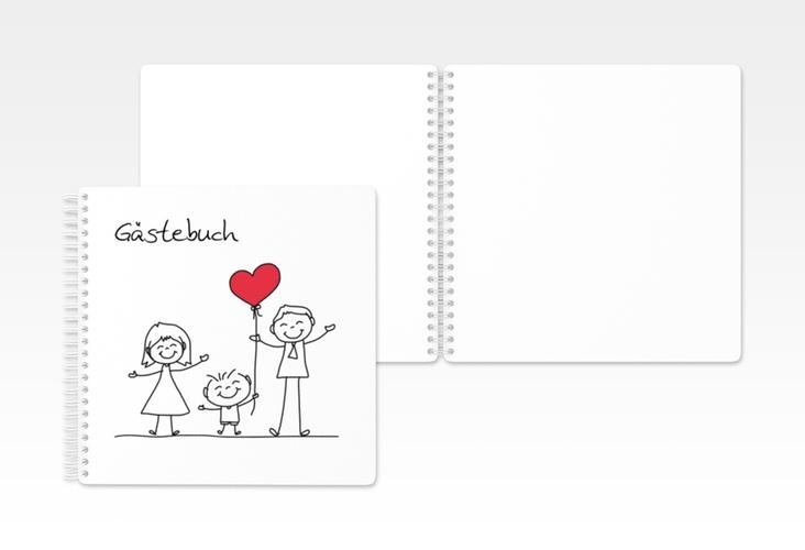 "Gästebuch Hochzeit ""Family"" Ringbindung"