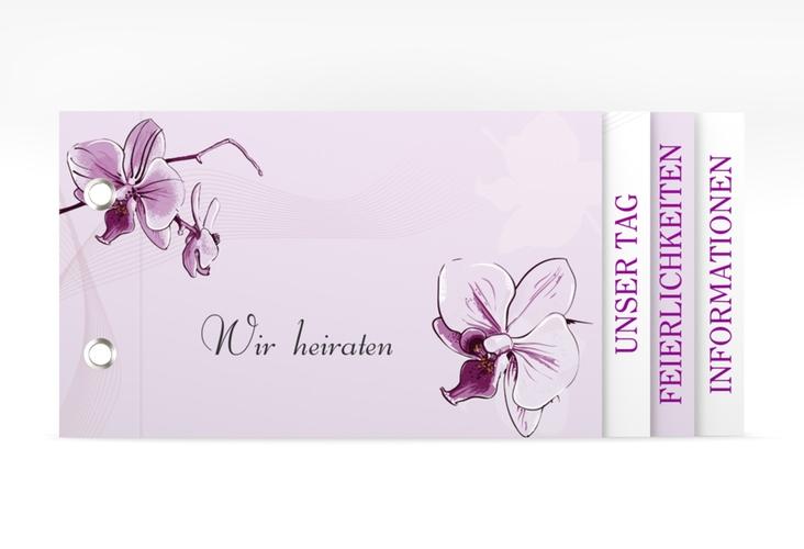 """Einladung Hochzeit """"Modena"""" Booklet lila"""
