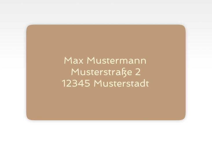 """Empfängeretikett Hochzeit """"Glam"""" 63,5 x 38,1 mm beige"""