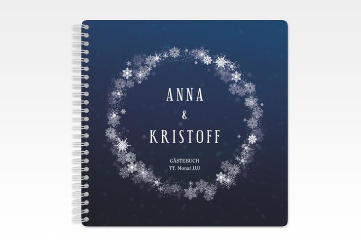 """Gästebuch Hochzeit """"Winterdream"""" Ringbindung"""