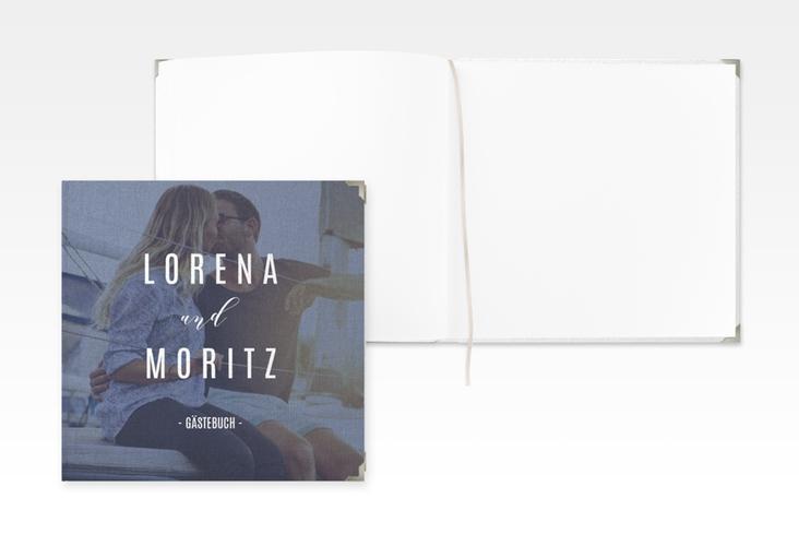 """Gästebuch Selection Hochzeit """"Memory"""" Leinen-Hardcover blau"""