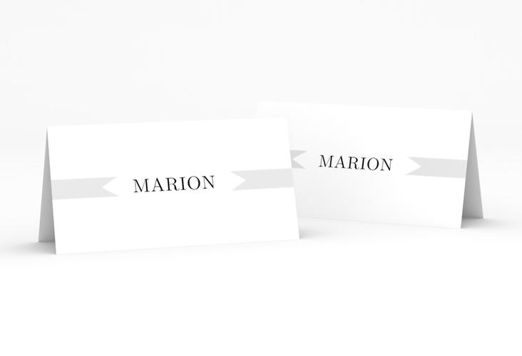 """Tischkarte Hochzeit """"Tender"""" Tischkarten grau"""