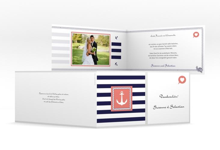 "Danksagungskarte Hochzeit ""Girona"" DIN lang Klappkarte"