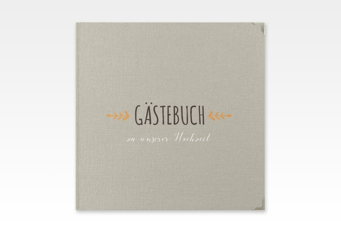 """Gästebuch Selection Hochzeit """"Eden"""" Hardcover orange"""
